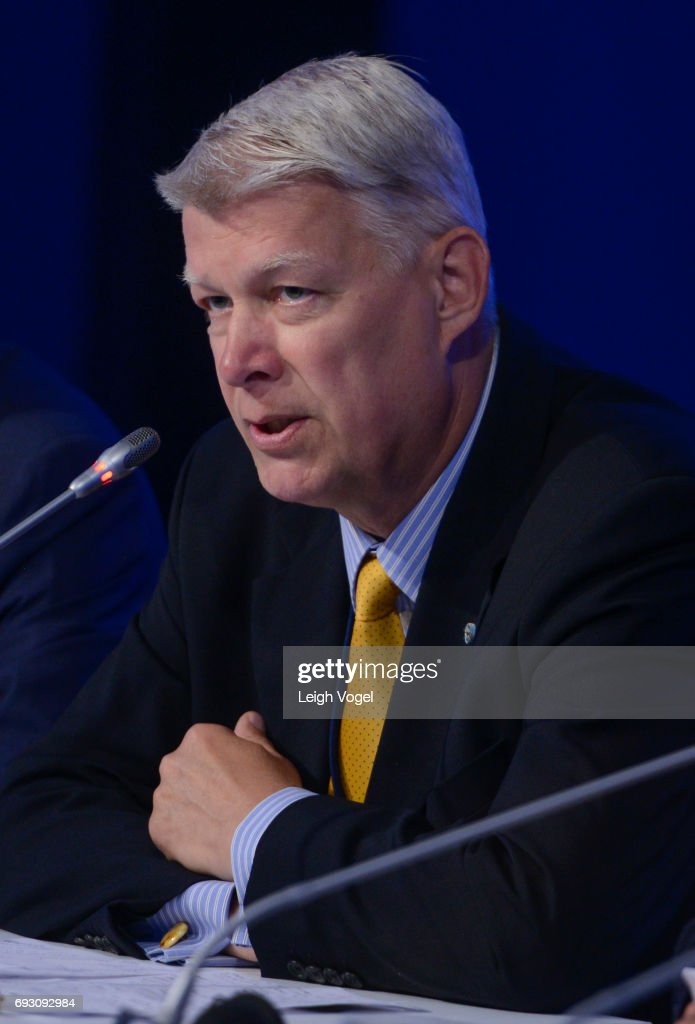 Valdis Zatlers, former President, Republic of Latvia, participates in a discussion during the Concordia Europe Summit on June 6, 2017 in Athens, Greece.