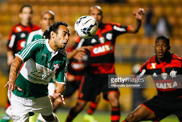 Valdivia of Palmeiras in action during the match between Palmeiras e Flamengo for the Brazilian Series A 2014 at Pacaembu stadium on September 17...