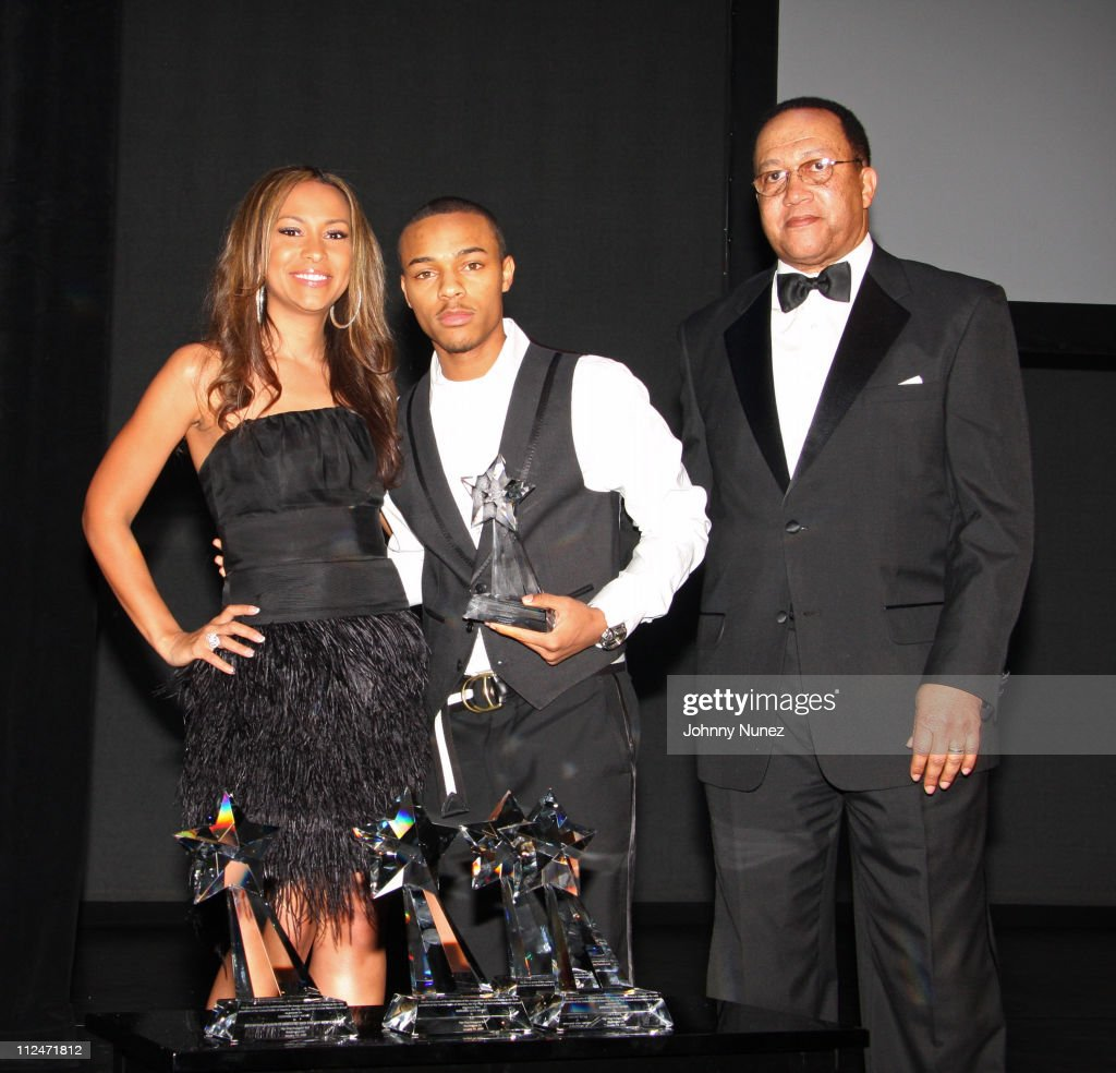 Valeisha Butterfield Bow Wow and Dr Ben Chavis attend the Hip Hop Summit Action Network Inaugural Ball at the Harman Center for the Arts on January...