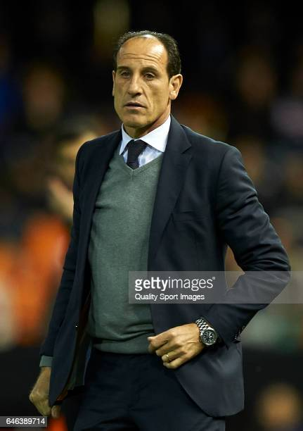 Valencia CF manager Salvador Gonzalez Voro looks on during the La Liga match between Valencia CF and CD Leganes at Mestalla Stadium on February 28...