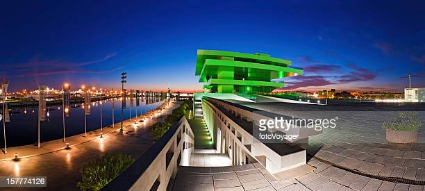 Valencia Veles e Schlitzen America's Cup-Gebäude beleuchtet Spanien