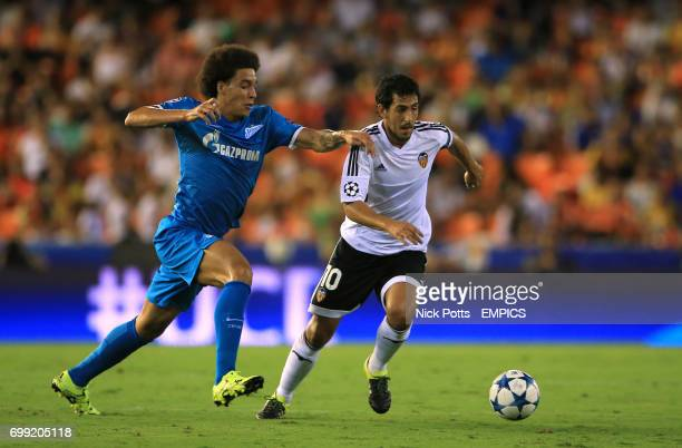 Valencia's Dani Parejo holds off challenge from Zenit St Petersburg's Axel Witsel