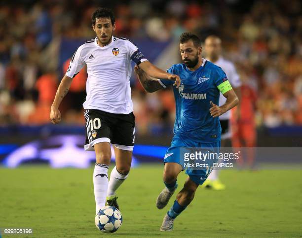 Valencia's Dani Parejo holds off challenge from Zenit St Petersburg's Danny