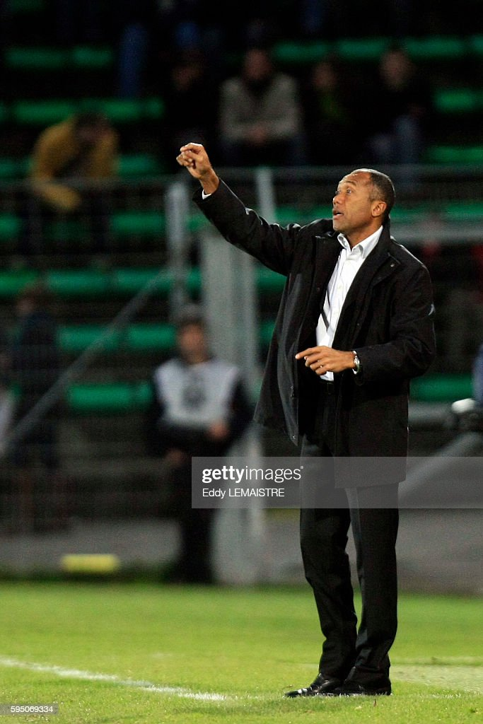 Valenciennes coach Antoine Kombouare during the French Ligue 1 soccer match between Valenciennes and AS Saint Etienne