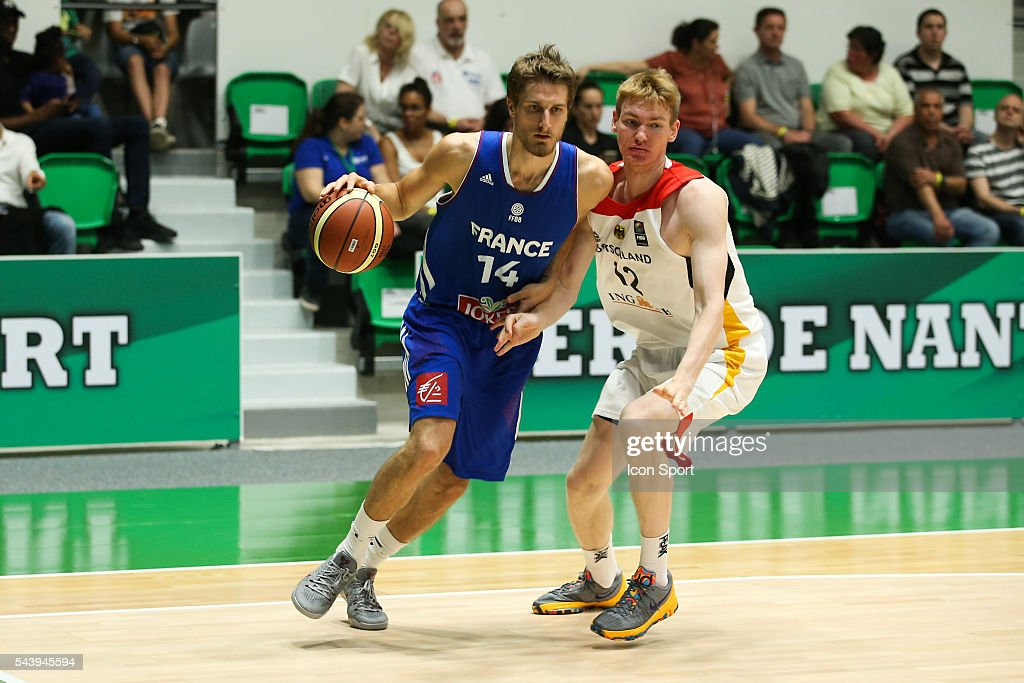 Valentin Bigote of France during the friendly basketball match between France A' and Germany A' at Palais des Sports Maurice Thorez on June 30, 2016 in Nanterre, France.