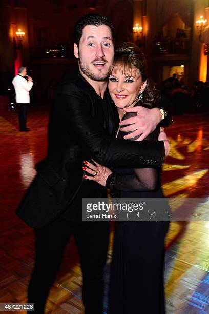 Valentin Chmerkovskiy and Shirley Ballas attend the 2015 Royal Ball Hollywood Gala at Millennium Biltmore Hotel on March 21 2015 in Los Angeles...