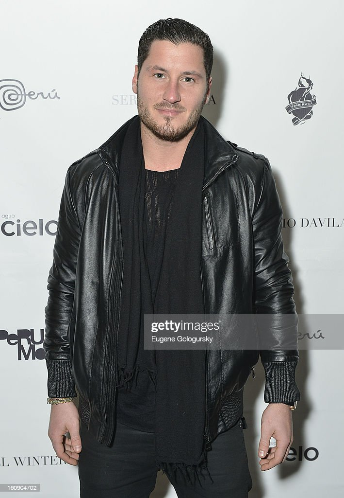 <a gi-track='captionPersonalityLinkClicked' href=/galleries/search?phrase=Valentin+Chmerkovskiy&family=editorial&specificpeople=8128683 ng-click='$event.stopPropagation()'>Valentin Chmerkovskiy</a> attends Sergio Davila during Fall 2013 Mercedes-Benz Fashion Week at The Studio at Lincoln Center on February 7, 2013 in New York City.