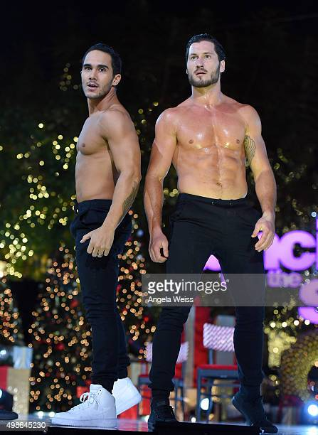 Valentin Chmerkovskiy performs at ABC's 'Dancing With The Stars' Season Finale hosted by The Grove at The Grove on November 24 2015 in Los Angeles...