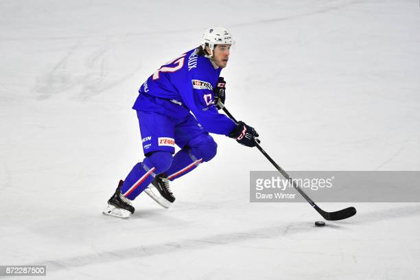 Valentin Claireaux of France during the EIHF Ice Hockey Four Nations tournament match between France and Slovenia on November 9 2017 in Cergy France