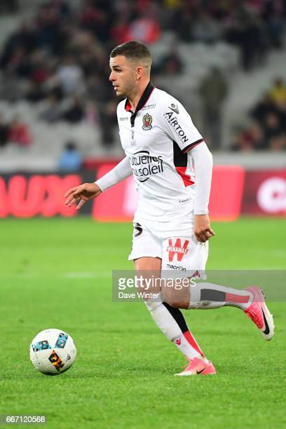 Valentin Eysseric of Nice during the French Ligue 1 match between Lille OSC and OGC Nice at Stade PierreMauroy on April 7 2017 in Lille France