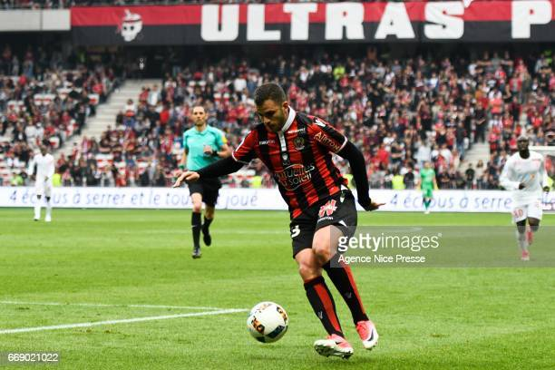 Valentin Eysseric of Nice during the Ligue 1 match between OGC Nice and As Nancy Lorraine at Allianz Riviera on April 15 2017 in Nice France