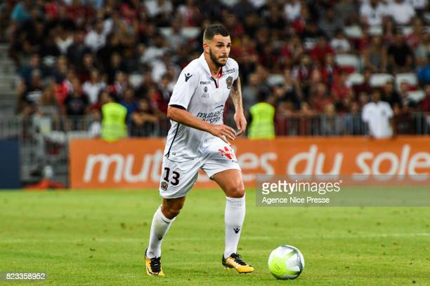 Valentin Eysseric of Nice during the UEFA Champions League Qualifying match between Nice and Ajax Amsterdam at Allianz Riviera Stadium on July 26...