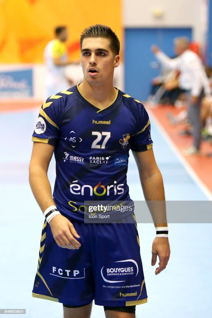 Valentin Laplace of Massy during Lidl Star Ligue match between Massy Essonne Handball and HBC Nantes on September 13, 2017 in Massy, France.
