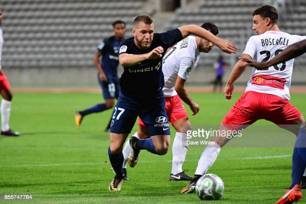 Valentin Lavigne of Paris FC during the Ligue 2 match between Paris FC and Nimes on September 29 2017 in Paris France