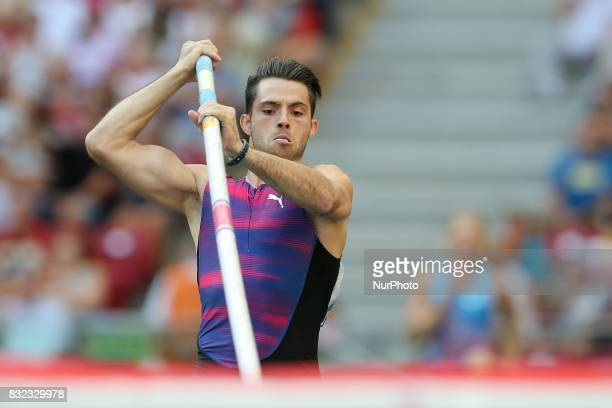 Valentin Lavillenie in action during the 5th Kamila Skolimowska Memorial of athletics in Warsaw Poland on 15 August 2017