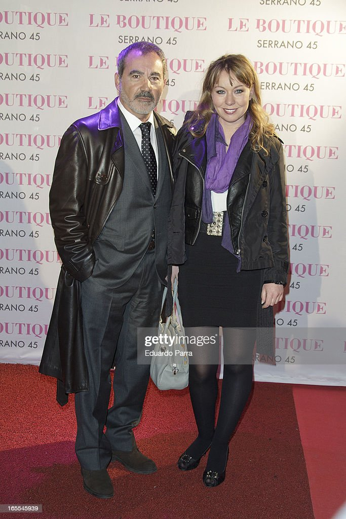 Valentin Paredes and guest attend the photocall for the birthday party of Norma Duval at Le Boutique disco on April 4, 2013 in Madrid, Spain.