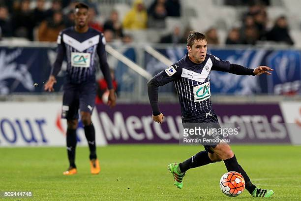 Valentin vada for FC Girondins de Bordeaux in action during the French Cup match between FC Girondins de Bordeaux and FC Nantes at Stade Matmut...