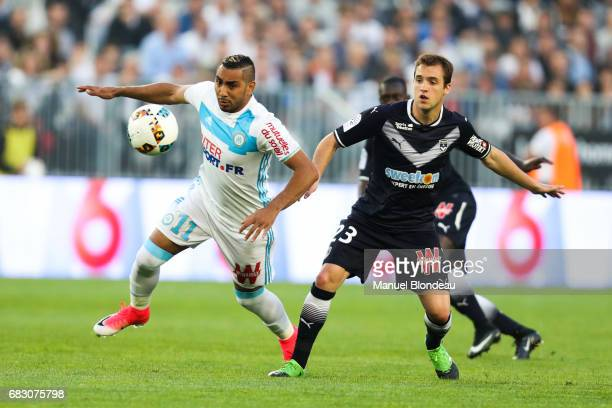 Valentin Vada of Bordeaux and Dimitri Payet of Marseille during the Ligue 1 match between Girondins de Bordeaux and Olympique de Marseille at Nouveau...