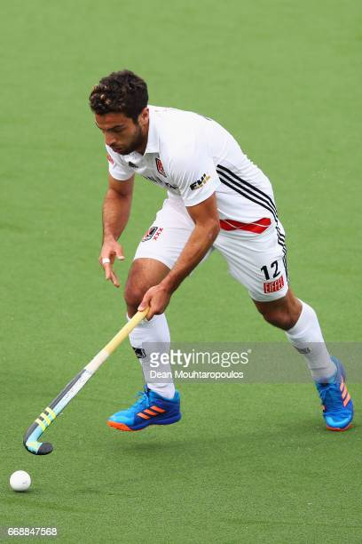 Valentin Verga of AH BC Amsterdam in action during the Euro Hockey League KO16 match between HC OranjeRood and AH BC Amsterdam at held at HC...