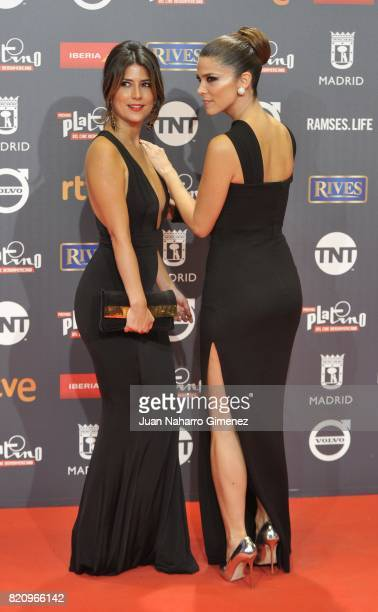 Valentina Acosta and Juana Acosta attend the 'Platino Awards 2017' photocall at La Caja Magica on July 22 2017 in Madrid Spain