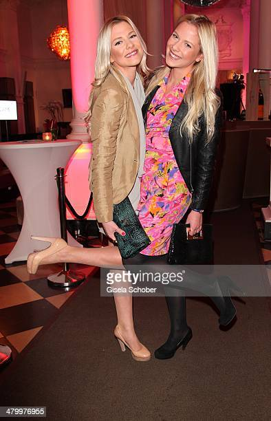 Valentina and sister Cheyenne Pahde attend the AMREF Charity Gala 'Come Fly With Us' at Rilano No 6 on March 21 2014 in Munich Germany