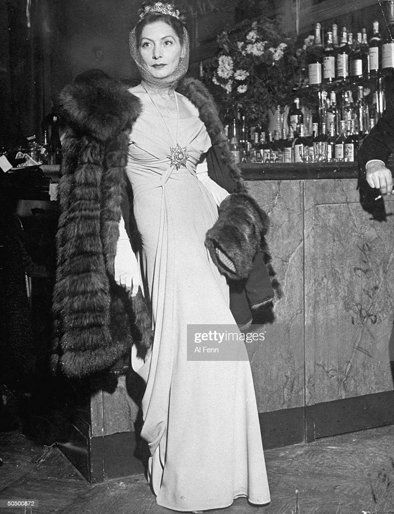 Valentina attending opening of the Metropolitan Opera