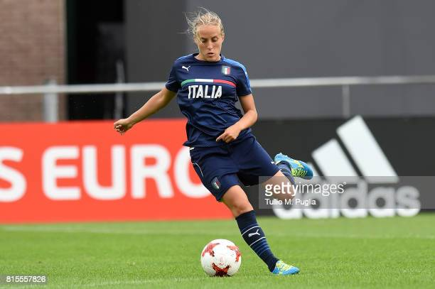 Valentina Cernoia of Italy women's national team takes part in a training session during the UEFA Women's EURO 2017at Sparta Stadion Het Kasteel on...