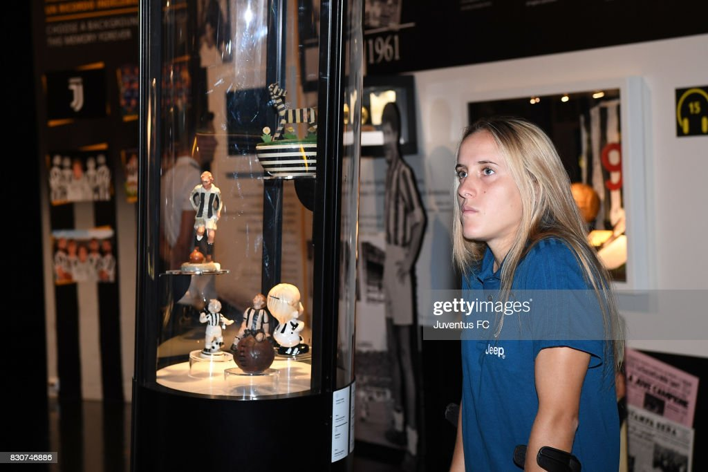 Valentina Cernoia of Juventus Women looks on during a visit to the Club's Museum on August 12, 2017 in Turin, Italy. (Photo by Getty Images - Juventus FC/Getty Images