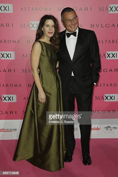 Valentina Cervi and Jean Christophe Babin attend the MAXXI Gala Dinner photocall at Maxxi Museum on November 29 2014 in Rome Italy