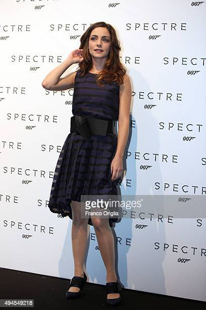 Valentina Corti attends a red carpet for 'Spectre' on October 27 2015 in Rome Italy