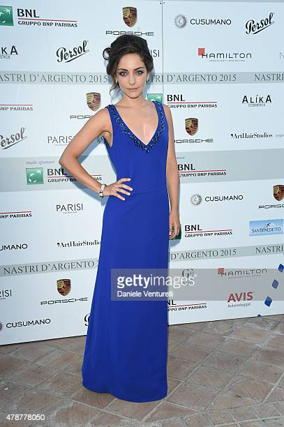 Valentina Corti attends the Nastri D'Argento Awards 2015 Cocktail on June 27 2015 in Taormina Italy