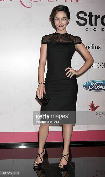 Valentina Corti attends the Premio Afrodite 2014 at Capitol Club on October 15 2014 in Rome Italy
