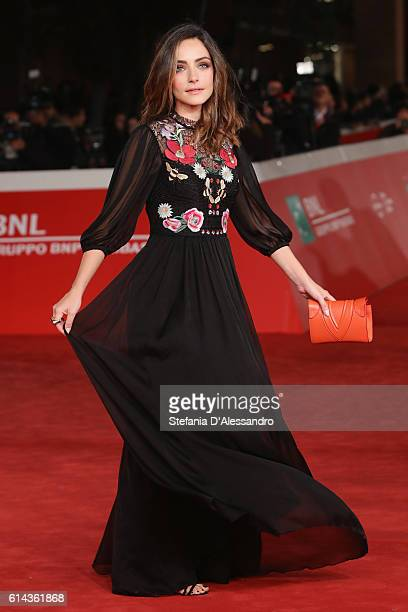 Valentina Corti walks a red carpet for 'Moonlight' on October 13 2016 in Rome Italy