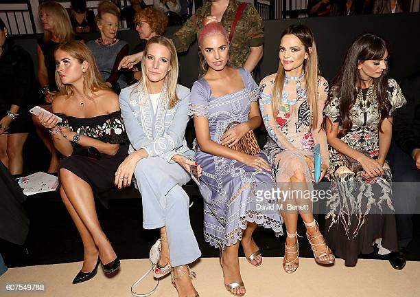 Valentina Ferragni Alice Naylor Leyland Amber Le Bon Maria Hatzistefanis and Zara Martin attend the Temperley London x Vero SS17 Fashion Show at The...