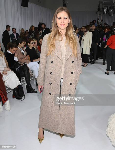 Valentina Ferragni attends Delpozo during Fall 2016 New York Fashion Week at Pier 59 Studios on February 17 2016 in New York City