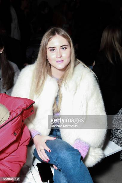 Valentina Ferragni attends the Marchesa Fashion show during New York Fashion Week The Shows at Skylight Clarkson Sq on February 15 2017 in New York...