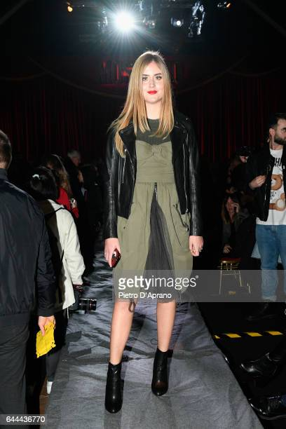 Valentina Ferragni attends the Moschino show during Milan Fashion Week Fall/Winter 2017/18 on February 23 2017 in Milan Italy