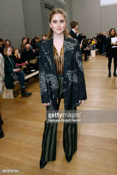 Valentina Ferragni attends the Nina Ricci show as part of the Paris Fashion Week Womenswear Fall/Winter 2017/2018 on March 4 2017 in Paris France