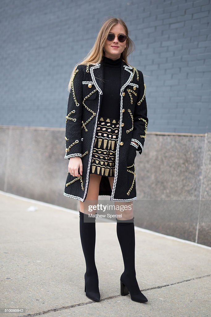Valentina Ferragni is seen at Lacoste during New York Fashion Week: Women's Fall/Winter 2016 on February 13, 2016 in New York City.