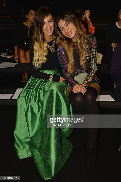 Valentina Fradegrada and Margherita Zanatta attend the Massimo Rebecchi show as part of Milan Fashion Week Womenswear Spring/Summer 2014 on September...