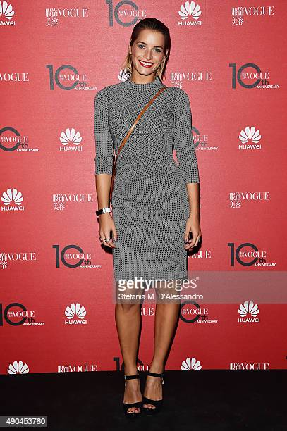 Valentina Georgia Pegorer attends Vogue China 10th Anniversary at Palazzo Reale on September 28 2015 in Milan Italy