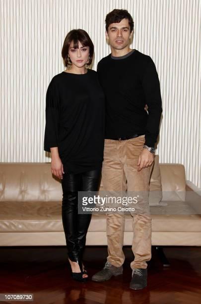 Valentina Lodovini and Luca Argentero attend the 'La Donna Della Mia Vita' photocall held at Terrazza Martini on November 23 2010 in Milan Italy