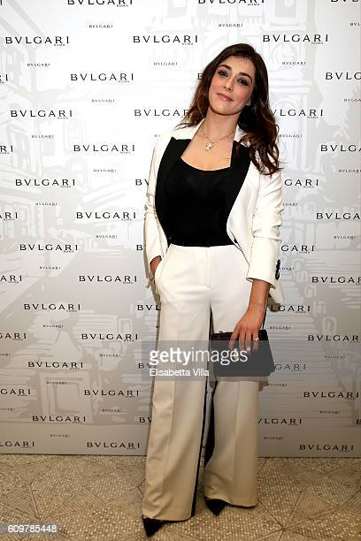 Valentina Lodovini attends the Bvlgari Tribute To Spanish Steps Opening Event on September 22 2016 in Rome Italy