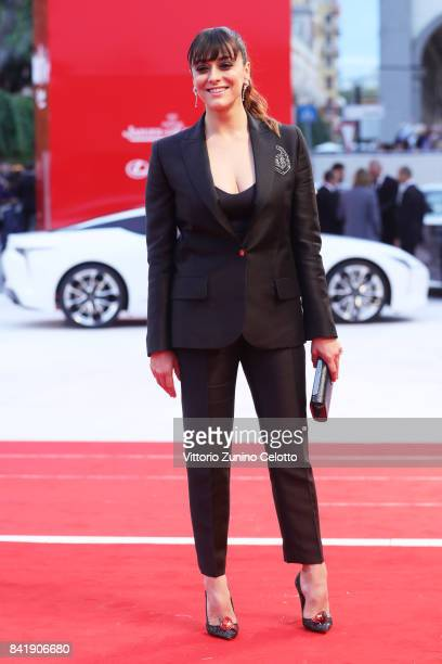 Valentina Lodovini walks the red carpet ahead of the 'Suburbicon' screening during the 74th Venice Film Festival at Sala Grande on September 2 2017...