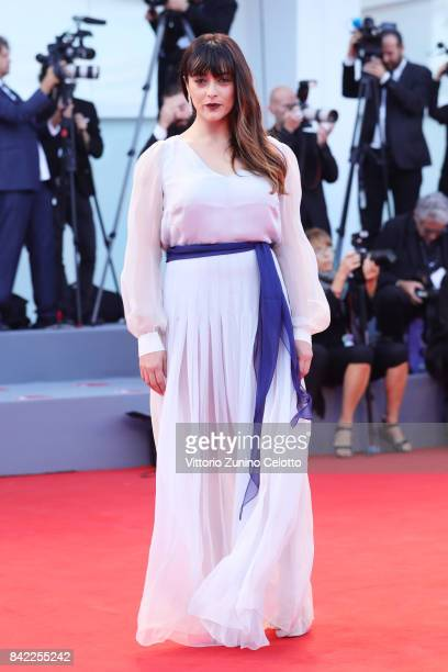 Valentina Lodovini walks the red carpet ahead of the 'The Leisure Seeker ' screening during the 74th Venice Film Festival at Sala Grande on September...