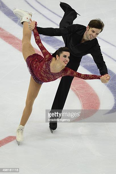 Valentina Marche and Ondrej Hotarek of Italy skate in the Pairs Free Skating during Rostelecom Cup ISU Grand Prix of Figure Skating 2015 at the Small...