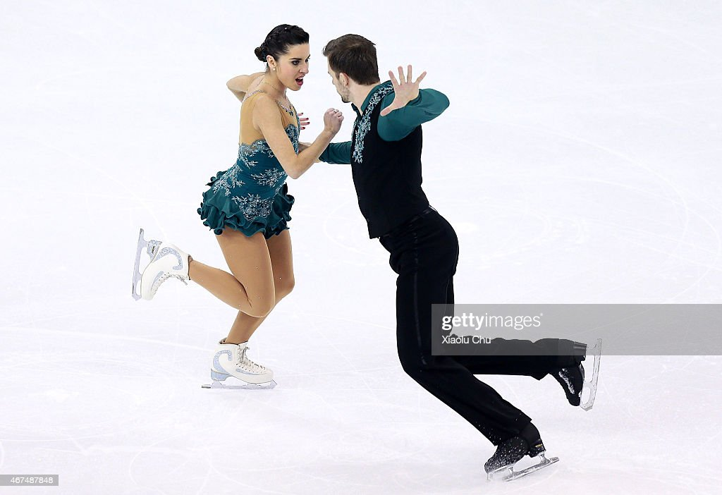 <a gi-track='captionPersonalityLinkClicked' href=/galleries/search?phrase=Valentina+Marchei&family=editorial&specificpeople=734432 ng-click='$event.stopPropagation()'>Valentina Marchei</a> and Ondrej Hot Hotarek of Italy perform during the Pairs Short Program on day one of the 2015 ISU World Figure Skating Championships at Shanghai Oriental Sports Center on March 25, 2015 in Shanghai, China.