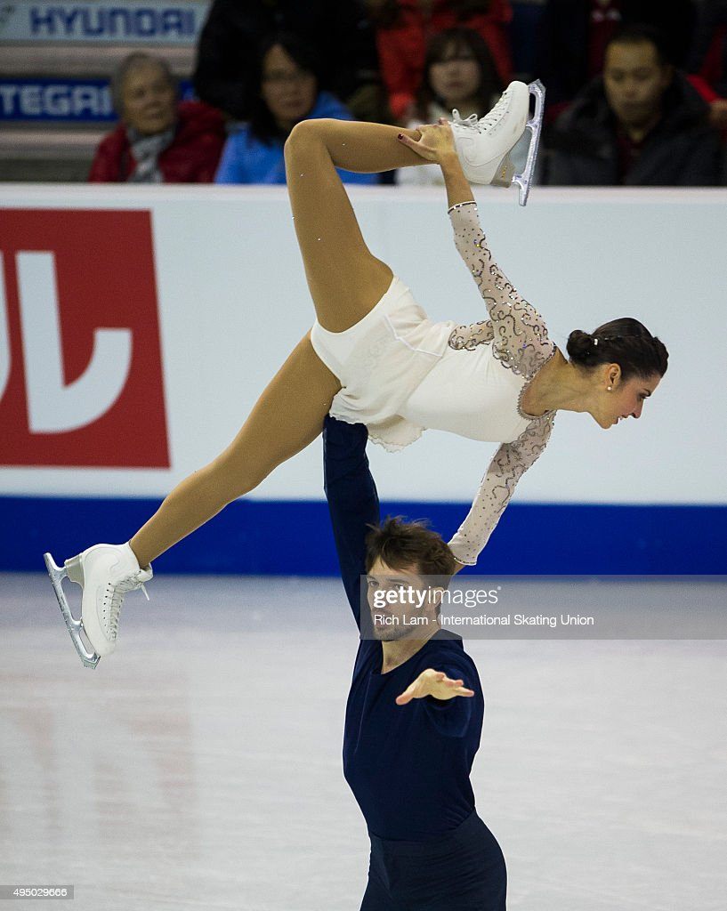 <a gi-track='captionPersonalityLinkClicked' href=/galleries/search?phrase=Valentina+Marchei&family=editorial&specificpeople=734432 ng-click='$event.stopPropagation()'>Valentina Marchei</a> and Ondrej Hotarek of Italy skate during the Pair's Short Program on day one of Skate Canada International ISU Grand Prix of Figure Skating, October, 30, 2015 at ENMAX Centre in Lethbridge, Alberta, Canada.