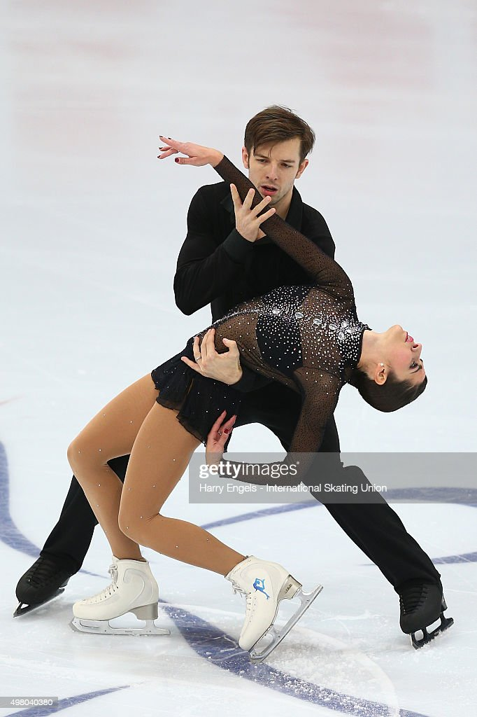 <a gi-track='captionPersonalityLinkClicked' href=/galleries/search?phrase=Valentina+Marchei&family=editorial&specificpeople=734432 ng-click='$event.stopPropagation()'>Valentina Marchei</a> and Ondrej Hotarek of Italy skate during the Pairs Short Program on day one of the Rostelecom Cup ISU Grand Prix of Figure Skating 2015 at the Luzhniki Palace of Sports on November 20, 2015 in Moscow, Russia.