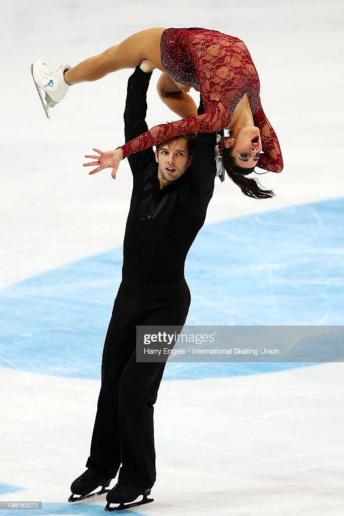 <a gi-track='captionPersonalityLinkClicked' href=/galleries/search?phrase=Valentina+Marchei&family=editorial&specificpeople=734432 ng-click='$event.stopPropagation()'>Valentina Marchei</a> and Ondrej Hotarek of Italy skate during the Pairs Free Skating on day two of the Rostelecom Cup ISU Grand Prix of Figure Skating 2015 at the Luzhniki Palace of Sports on November 21, 2015 in Moscow, Russia.